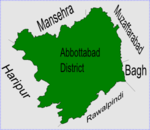 Sarbhana is located in Abbottabad District