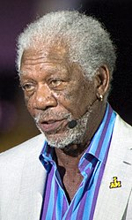 Academy Award-winning actor Morgan Freeman narrates for the opening ceremony (26904746425) (cropped) 3.jpg