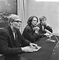 Ada Kok (l) en Klenie Bimolt (r) terug uit USA persconferentie, Bestanddeelnr 918-6508.jpg