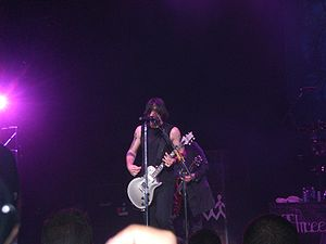 Three Days Grace - The band at the Buzz Bake Sale in 2007