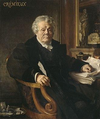 Adolphe Crémieux - Adolphe Crémieux portrayed by Jean-Jules-Antoine Lecomte du Nouÿ (1878) Musée d'Art et d'Histoire du Judaïsme