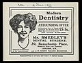 Advert for Mr Smedley's Dental Surgery Wellcome L0040513.jpg
