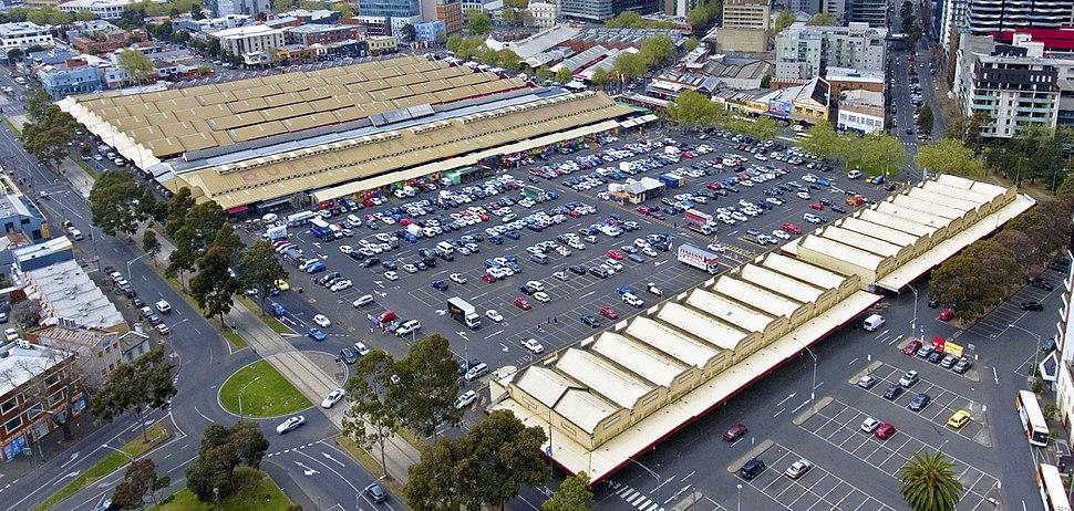 Aerial photograph of Queen Victoria Market