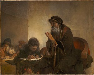Homer Dictating to Scribes
