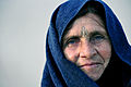 Afghan woman at Bagram medical entry control point.JPG