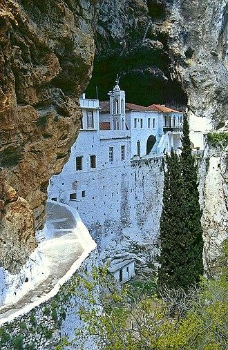 Leonidio - Monastery Agiou Nikolaou Sintzas, a short distance to the west of Leonidio.