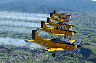 Red Checkers - Image: Air Force Air Trainers in formation Flickr NZ Defence Force