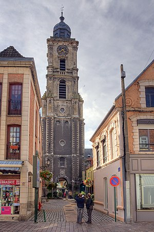 Aire-sur-la-Lys - The Bell-tower, classified as World Heritage Site by UNESCO in 2005