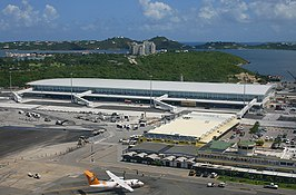 Terminal van Princess Juliana International Airport