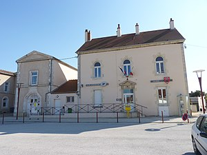Aiserey - The Town Hall and the Post Office