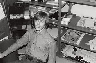 Comics Buyer's Guide - Alan Light in his first office, in his parents' basement, in 1975