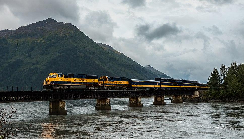Alaska Railroad, Girdwood, Alaska, Estados Unidos, 2017-08-31, DD 40