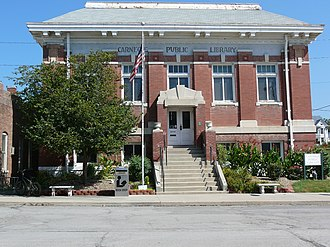 Carnegie Library of Albany (Albany, Missouri) - Library in 2010