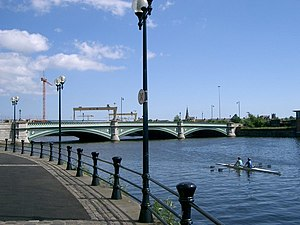 Albert Bridge, Belfast - A view of Albert Bridge facing towards the shipyards, 2006