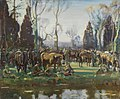 Alfred Munnings - HALT ON THE MARCH BY A STREAM AT NESLE (CWM 19710261-0445).jpeg