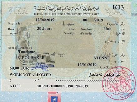 Visa Policy Of Algeria Wikiwand