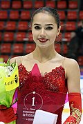 Alina Zagitova at the Trophée de France 2017 - Awarding ceremony 03.jpg