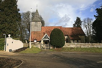 Houghton, Hampshire - Image: All Saints church , Houghton geograph.org.uk 123590