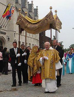 Una processione del Corpus Domini.