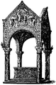 Altare med ciborium i San Ambrogio, Nordisk familjebok.png