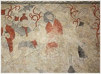 Alva Church - Fresco fragment depicting a Passion scene