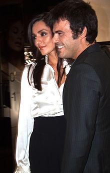 Ambra Angiolini e l'allora compagno Francesco Renga nel 2009