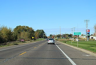Amery, Wisconsin - Image: Amery Wisconsin Sign WIS46