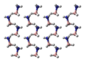 Part of the crystal structure of ammonia borane[2]