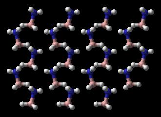 Ammonia borane - Image: Ammonia borane xtal 3D balls