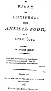 <i>An Essay on Abstinence from Animal Food, as a Moral Duty</i>