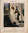 An unhappy young child hung on a wall by his nurse, who has gone dancing Wellcome V0011764.jpg