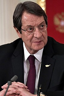 Cypriot politician, 7th and current President of Cyprus