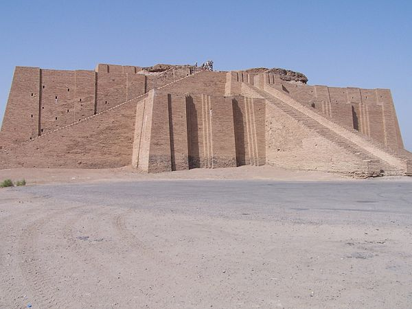 The Great Ziggurat of Ur (Dhi Qar Governorate, Iraq), built during the Third Dynasty of Ur (Sumerian Renaissance), dedicated to the moon god Nanna Ancient ziggurat at Ali Air Base Iraq 2005.jpg