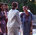 And Lindsay Kitt Wiebe as Andromache, Margaret Woodard as Sei, Ruth Nightengale as Hecuba and Chel Shipley as Cassanda, Trojan Women, 2010 Season.JPG