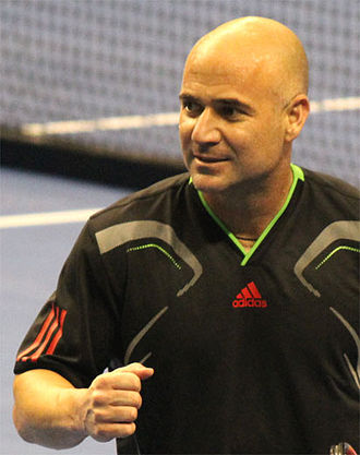 Andre Agassi - Andre Agassi in 2011 at the Champions Shootout