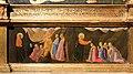 Andrea di giusto, adorazione dei magi e santi, da s. andrea a ripalta, 1436, 03 predica di s. andrea e battesimo di un devoto.jpg