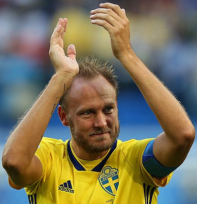 Andreas Granqvist captains Sweden since 2016.