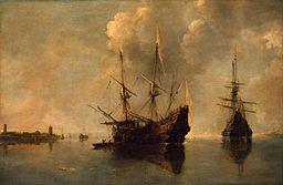 Andries van Eertvelt - Two Ships at Anchor - WGA7476