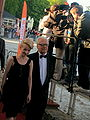 Andrzej Łapicki with own wife Kamila at closing gala of the XXXV Polish Film Festival in Gdynia 2010 - 1.jpg
