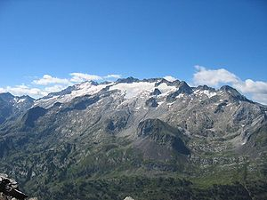 Pico del Aneto, the highest mountain of the Pyrenees.