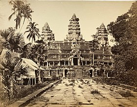 An 1866 photograph of Angkor Wat by Emile Gsell.