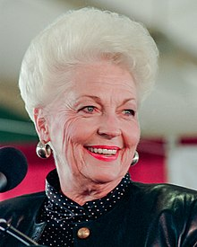 La gouverneure Ann Richards en 1992.