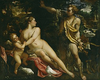 Adonis - Venus and Adonis, by Annibale Carracci (1560-1609), Italian Baroque painter