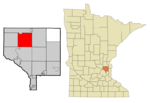 Anoka Cnty Minnesota Incorporated and Unincorporated areas OakGrove Highlighted.png