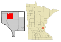Location of the city of Oak Grovewithin Anoka County, Minnesota