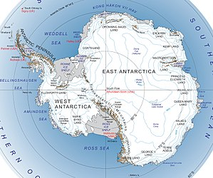 Queen Mary Land - Image: Antarctica major geographical features