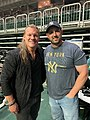 Anthony Michaels reunites with old buddy and former WWE wrestler, Chris Jericho.jpg