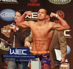Anthony Pettis - Anthony Pettis at WEC 53 weigh-in (2010)