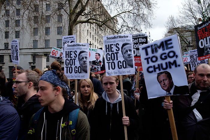 Anti-David Cameron protest 02.jpg