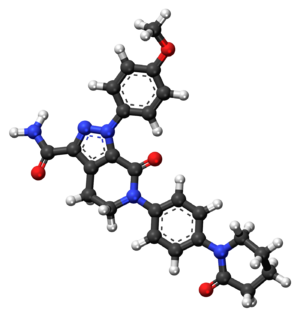 Apixaban - Image: Apixaban ball and stick model